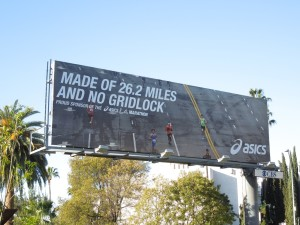 Asics 26miles no gridlock billboard
