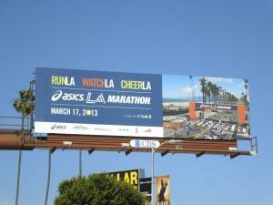 Asics LA Marathon 2013 billboard